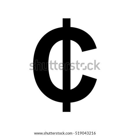 Cent sign icon.Money symbol. Stock photo ©