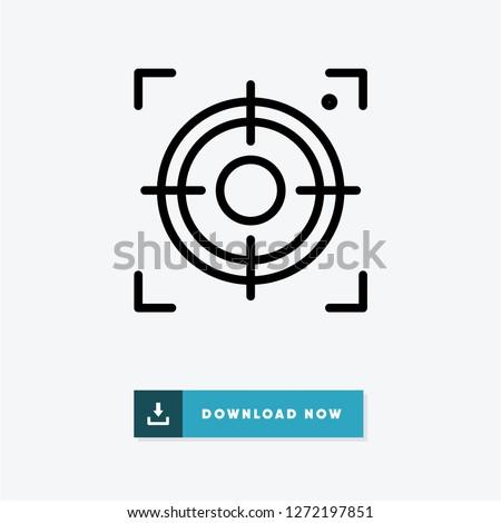 Center focus vector icon