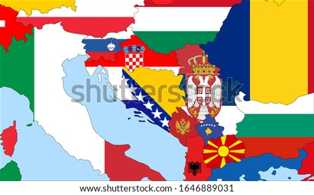 center the map of bosnia and