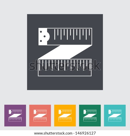 Centimetr flat icon. Vector illustration EPS.