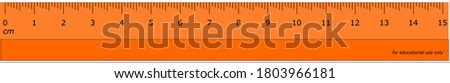 Centimetre scale with graded millimetre units for easy readability. Foto stock ©