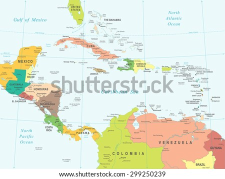 central america map   highly