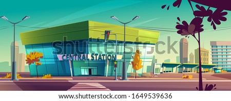 central bus station vector