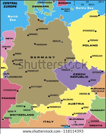 Central Europe - stock vector