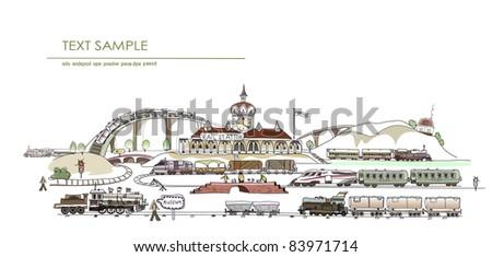 central railway station illustration