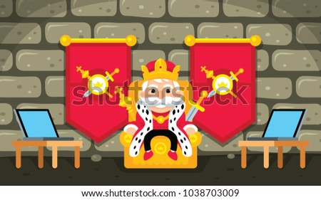 ceo king business illustration