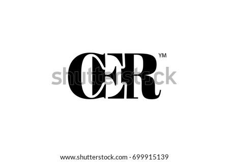 CER Logo Branding Letter. Vector graphic design. Useful as app icon, alphabet combination, clip-art, and etc. Zdjęcia stock ©