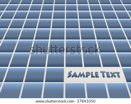 Ceramic blue vector tiles - stock vector