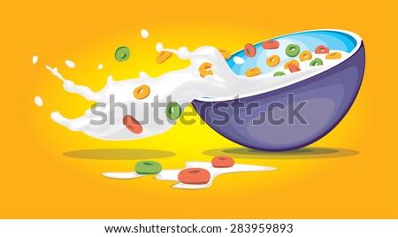 cereal bowl with splash of milk