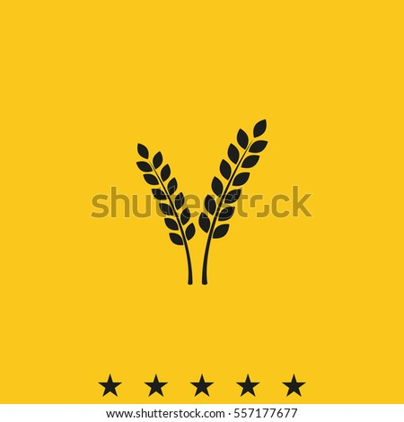 Cereal icon. Wheat or oats sheaf vector illustration.