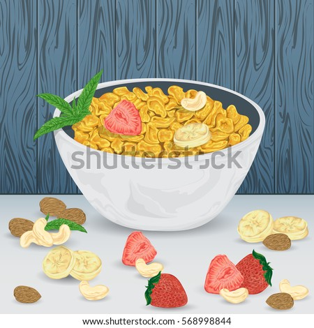 cereal porridge in bowl with