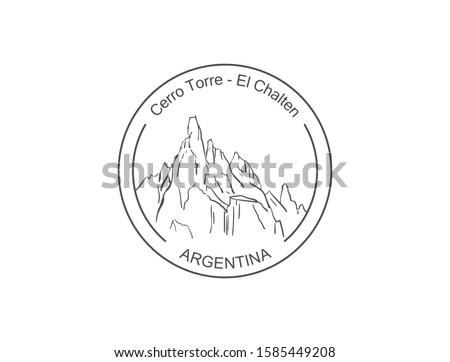 cerro torre mountain in