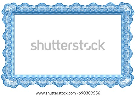 Certificate border with abstract kine