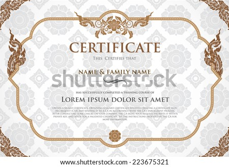 high school diploma certificate fancy design templates - certificate design template stock vector illustration