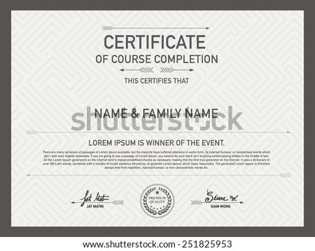 Modern certificate vectors download free vector art stock certificate design template unique patterned hipster mixed with other designs so as pakalang for vector certificate background yadclub Choice Image