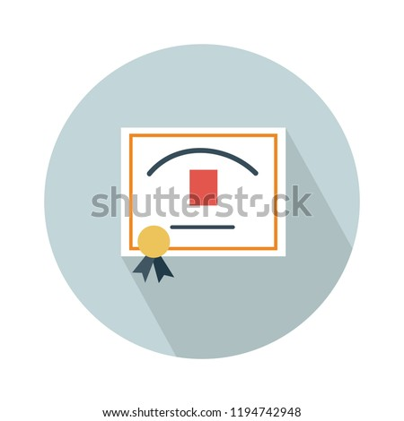 certificate diploma, certificate diploma icon white isolated on white background. Vector illustration