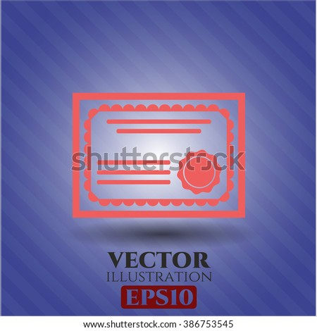 Certificate high quality icon