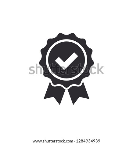 Certificate icon. Premium quality. Achievement badge. Profile Verification. Check mark icon. Vector check mark. Vector illustration. Color easy to edit. Quality mark. Quality seal. Approval sign