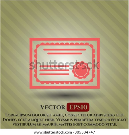 Certificate icon vector illustration