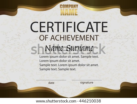 Premium brown certificate design template download free vector certificate of achievement reward winning the competition award winner horizontal brown with yelopaper Images