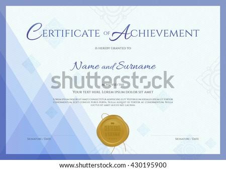 Achievement Certificate - Download Free Vector Art, Stock Graphics