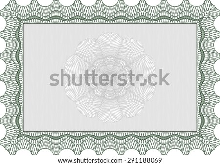 Certificate of achievement template. With guilloche pattern. Frame certificate template Vector.Good design.