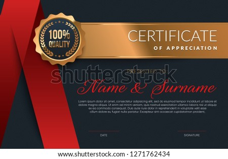 Certificate of Appreciation dark template. Eps10 vector.