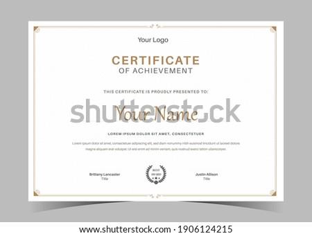 Certificate of Appreciation template, certificate of achievement, awards diploma template