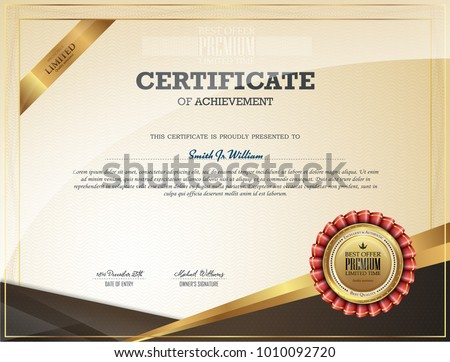 Certificate of Appreciation template. Classical style. Retro design.