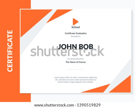 Certificate of appreciation template design. Elegant business diploma layout for training graduation or course completion. Certificate template. Award diploma design blank.
