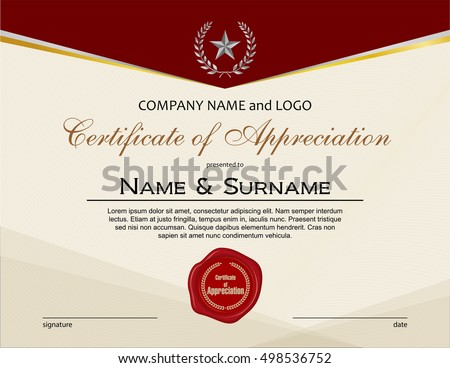 Retro Certificate With Wax Seals Vector Template - Download Free ...