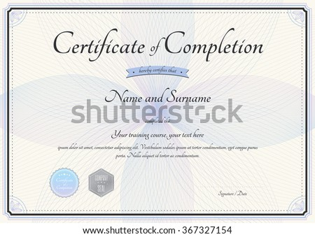 Certificate Of Completion Of Training Template. 5+ Certificate Of