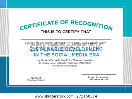 Geometric certificate award template vector design download free certificate of recognition formal style design editable clip art yelopaper Images