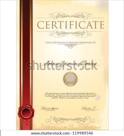 Formal certificates frames free vector download 6614 Free vector – Formal Certificate Template