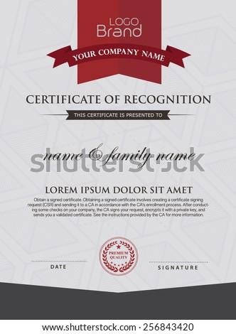certificate template. #256843420