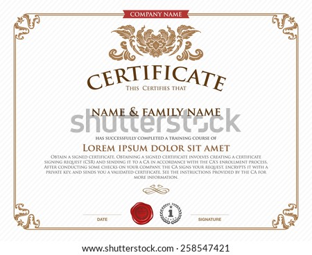 Certificate vector template download free vector art stock vector certificate template yadclub Choice Image