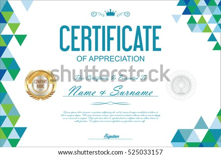 creative colorful certificate design template - Download Free Vector ...