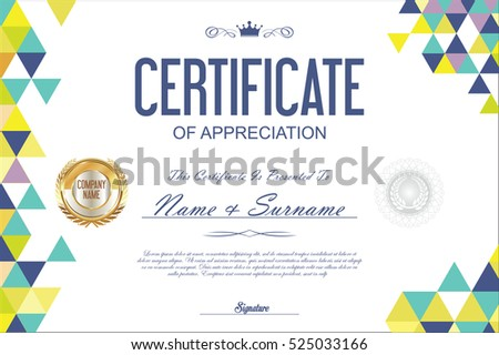 Abstract colorful certificate award diploma template background certificate template abstract geometric design background yelopaper Image collections