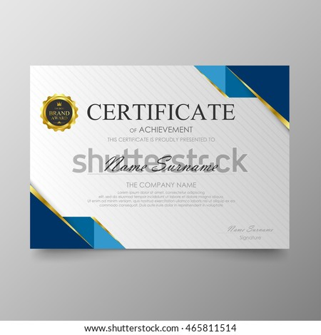 Vector Images Illustrations And Cliparts Certificate Template