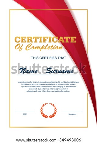 Certificate Template Diploma Layout A4 Size Vector Ez Canvas