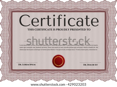 certificate template eps10 jpg of achievement diploma vector illustration design completion