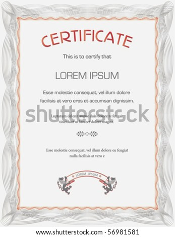 Certificate template - general purpose