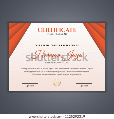 Certificate template in vector for achievement #1125292319