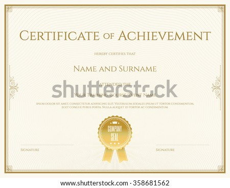 stock-vector-certificate-template-in-vector-for-achievement-graduation-completion