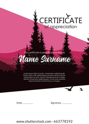 Certificate template is a modern laconic design.