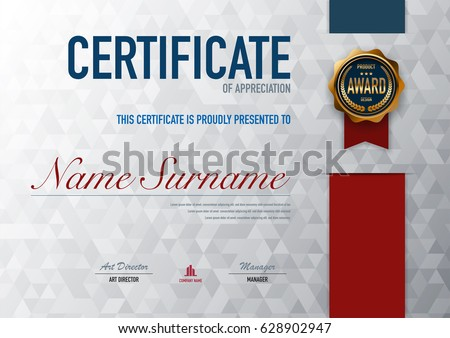 Elegant certificate template design vector download free vector certificate template luxury and diploma stylevector illustrationeps10 yadclub Choice Image