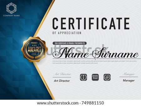 Certificate template luxury and diploma style,vector illustration eps10.