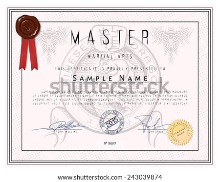 martial art certificate templates free - vector certificada certificada free vectors download