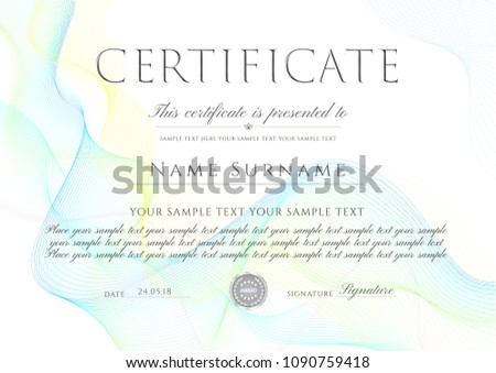 creative colorful certificate design template download free vector