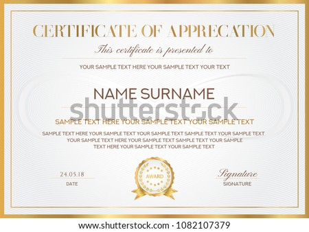 modern creative certificate of appreciation template download free
